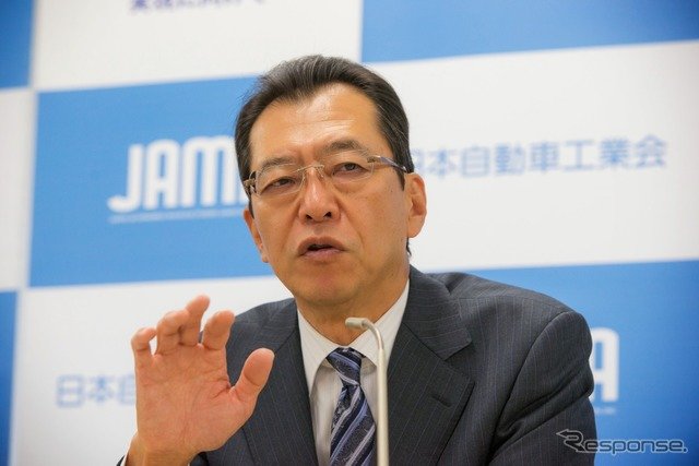 Fumihiko Chairman of Japan Automobile Manufacturers Association, the pond (source image)