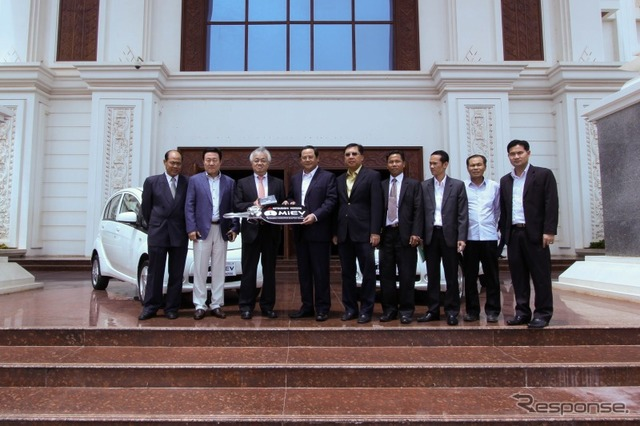 i-MiEV presentation ceremony held on September 16