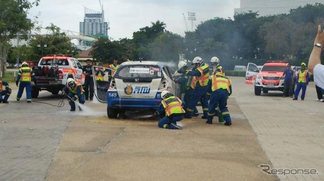 JAF in Thailand made rescue training