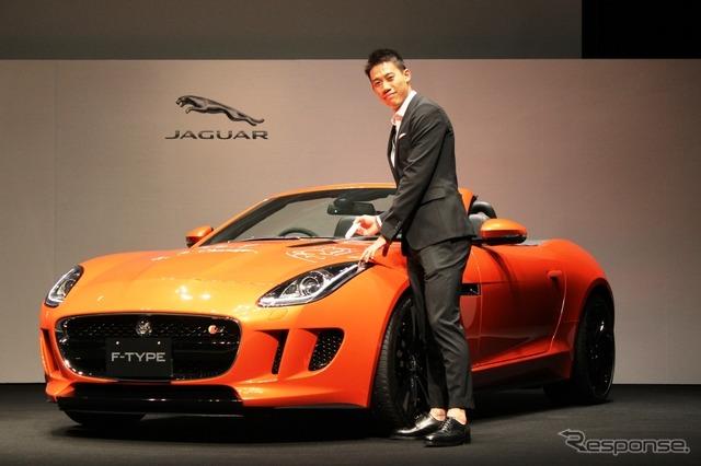 Nishikori Kei players Jaguar F type convertible and professional tennis player