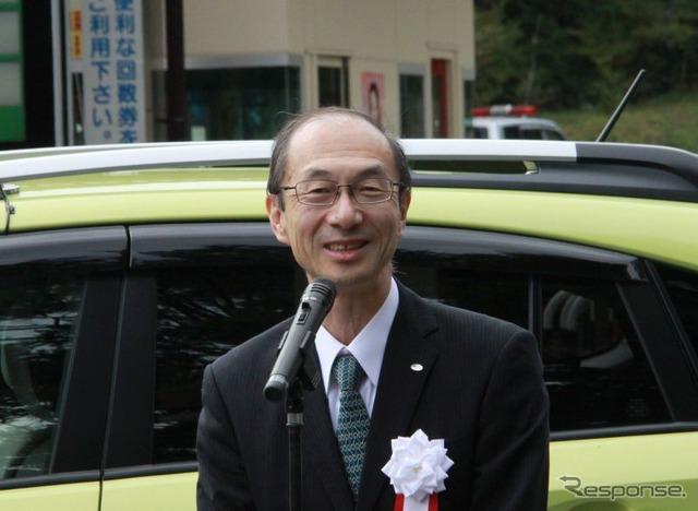 Fuji Subaru line patrol car ceremony