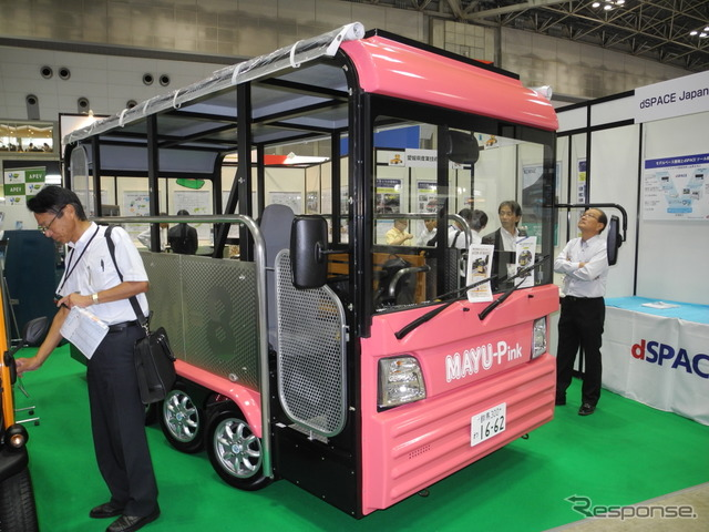 "EV bus developed by think to gather ""eCOM-8"""