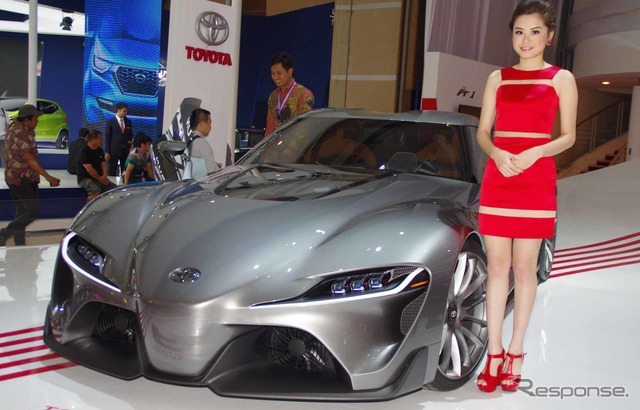 Toyota's graphite FT-1 concept at 2014 Jakarta Motor Show