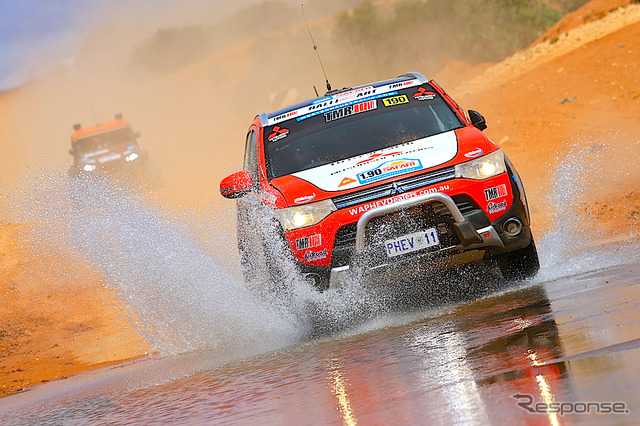 Mitsubishi Outlander PHEV rally car (2014 Australasian Safari)