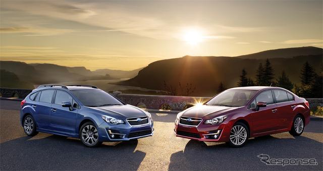 Subaru Impreza (United States version) by the year 2015 model