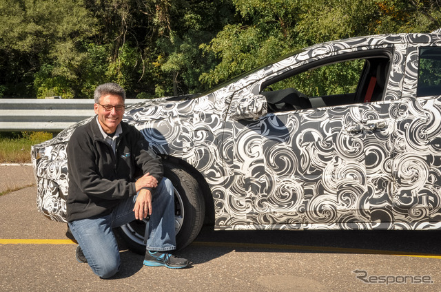 The next-generation Chevrolet Volt development prototype car