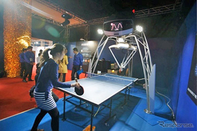 Omron rally continued table tennis robot exhibition images