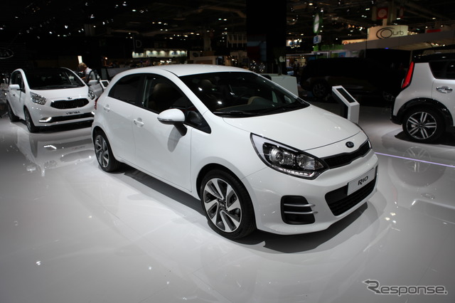By the year 2015 of the KIA Rio model (14 at the Paris Motor Show)