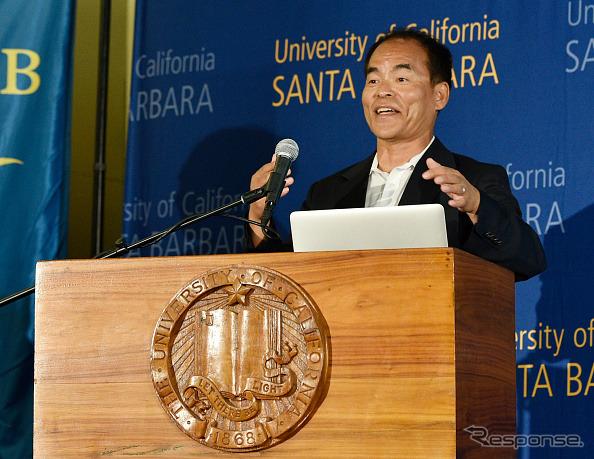 In the development of the blue LED Nobel Physics Prize-winning University of California Professor Shuji Nakamura