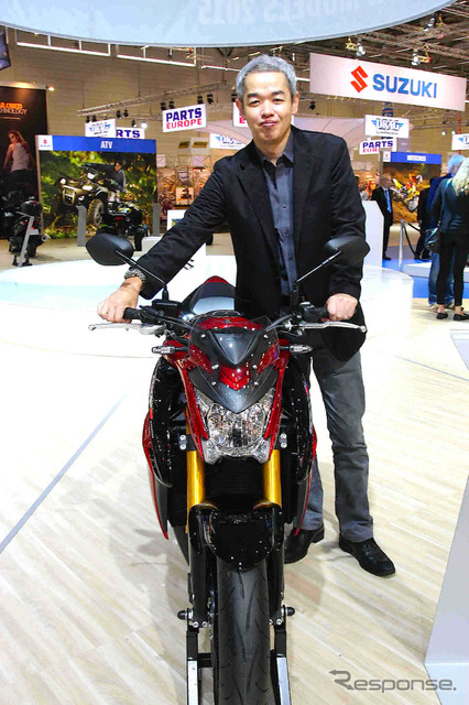 Suzuki Sahara, a project leader and GSX-S1000 ( Germany and Intermat 2014 )