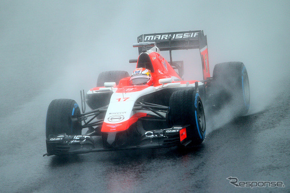 Jules Bianchi action for a marussia )