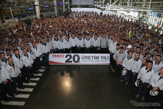 Toyota's Turkey factory celebrating its 20th anniversary from its start of production