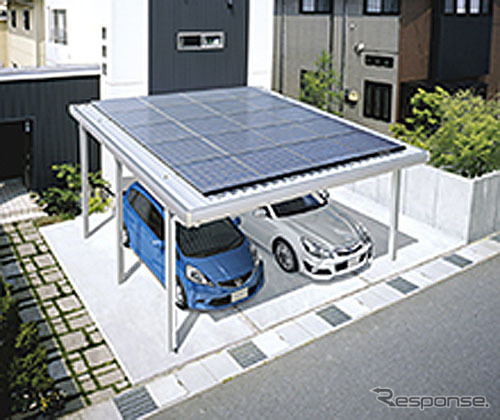 Photovoltaic power generation system with carport