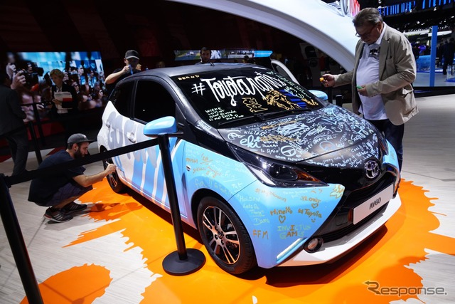 New Toyota aygo artcar (14 at the Paris Motor Show)
