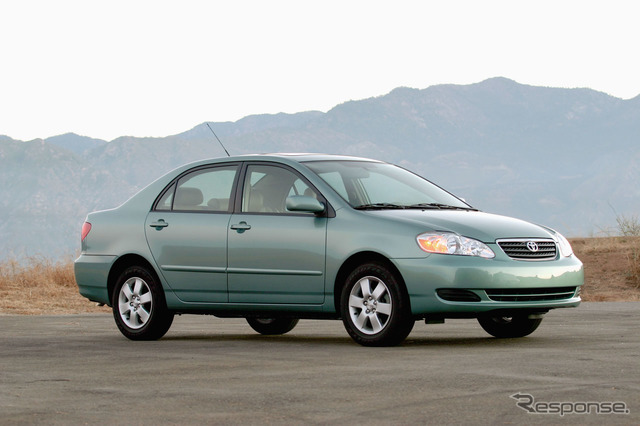 The last Toyota Corolla North American specifications.