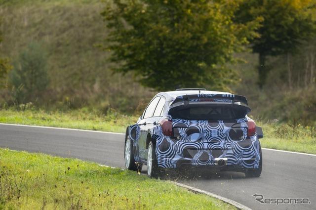 Hyundai i20 WRC next machine development test