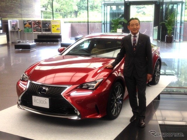 Lexus RC and-Shi obtained male President