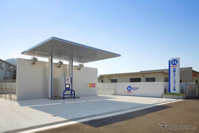 "Iwatani, a commercial hydrogen station ""not cotton hydrogen station Kokura"" opened."