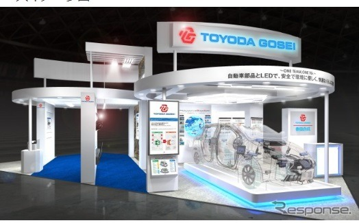 Toyoda Gosei, toyofuji 2014 to the exhibitors booth image