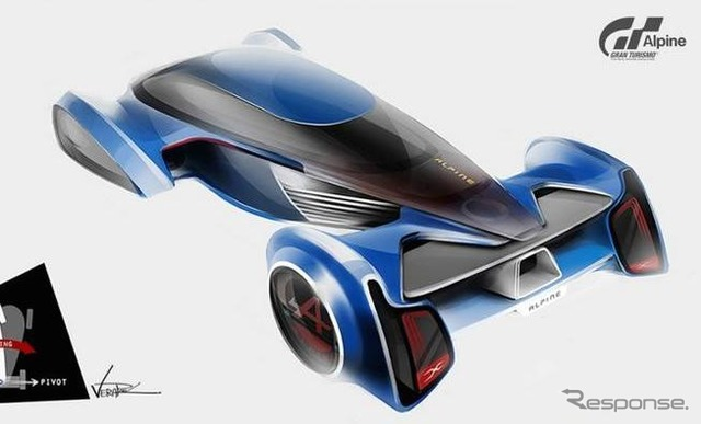 Vision-Gran Turismo of Alpine notice sketch