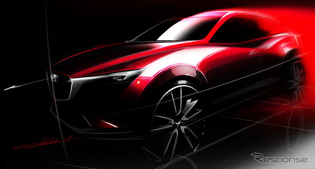 Sketched image of the Mazda CX-3