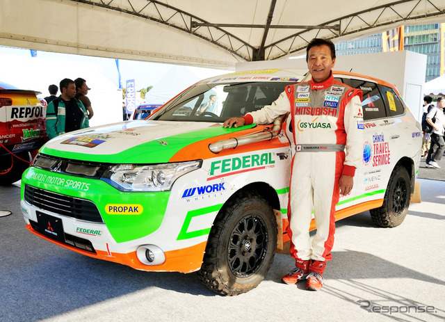 Mitsubishi Motors for years by drivers in the Paris-Dakar, is currently engaged in development of commercial vehicles and personnel training Masuoka Hiroshi