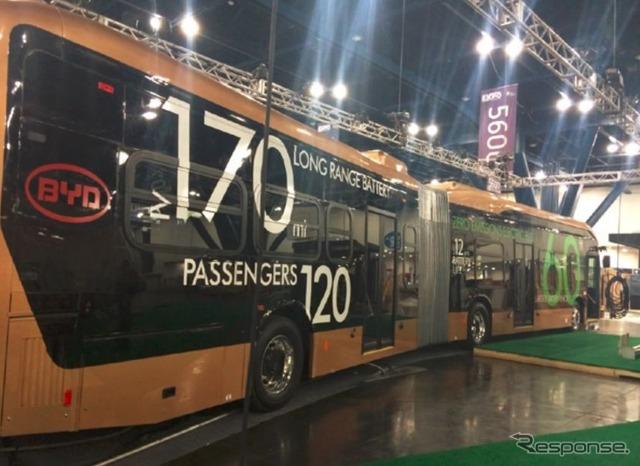 Overall length 18 m EV bus, BYD Lancaster