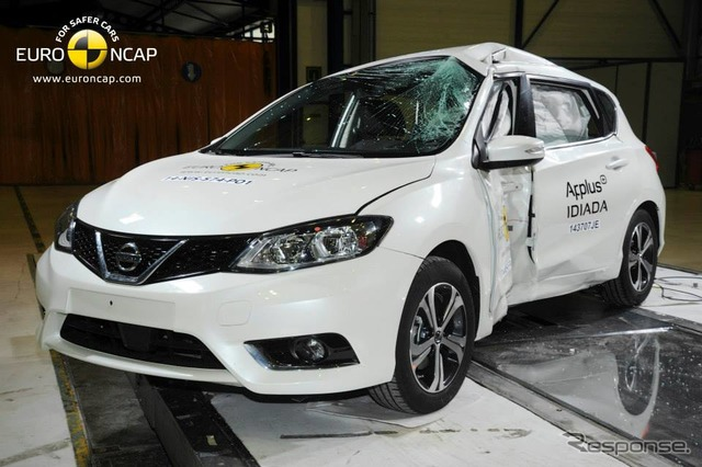Nissan pulsar latest Euro NCAP crash test