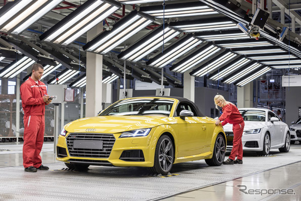 ใหม่ Audi TT Roadster ที่ฮังการีโรงงานเริ่มผลิต