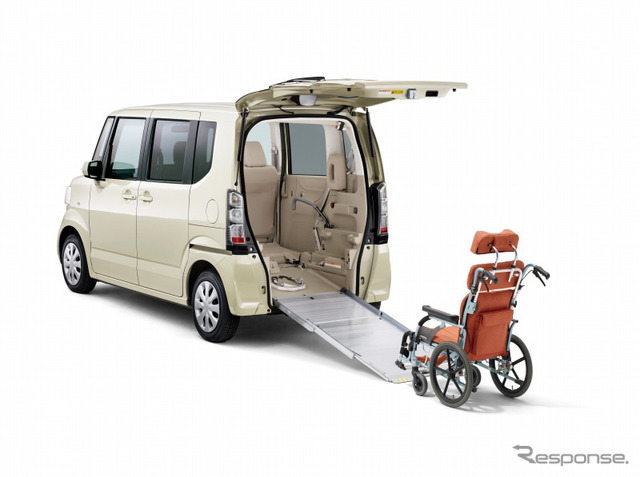 Honda N-BOX + wheelchair-accessible vehicle (reference image)