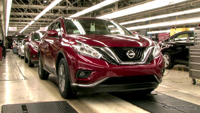 The Canton plant of Mississippi USA starts production of the new  Nissan Murano