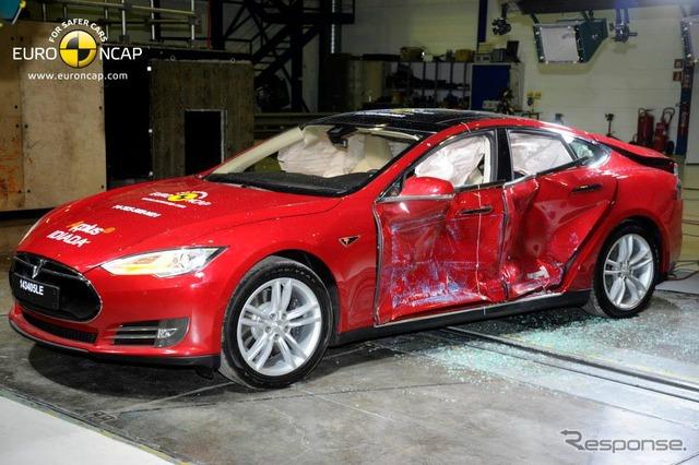 Euro NCAP crash test Tesla model S