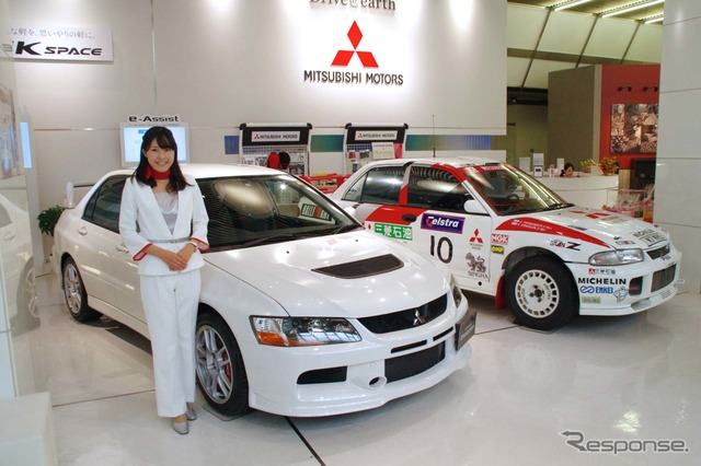 Tamachi, Tokyo Mitsubishi Motors headquarters showroom, have carried out special exhibition of re election top 3 models