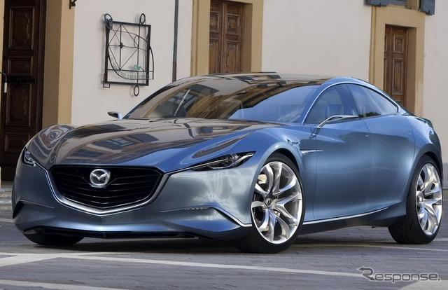 Mazda 4-door sports concept car Shinari