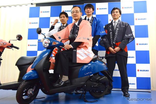 President Hidenobu Hamamoto of Suzuki Motorcycle