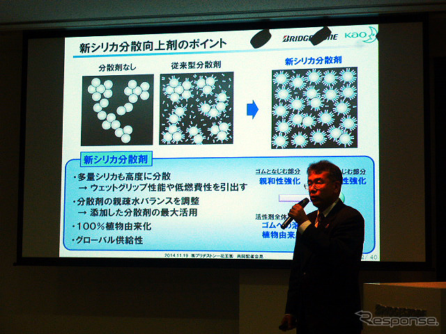 Kao with Bridgestone high-performance tire rubber materials ' sustainable balancing of improver ' announced ( 11/19 )