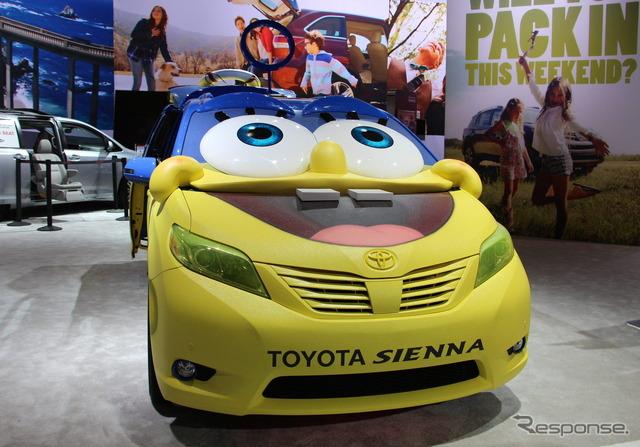 Sponge Bob specification car of Toyota Sienna
