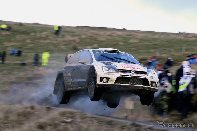 VW Polo R WRC rally Great Britain