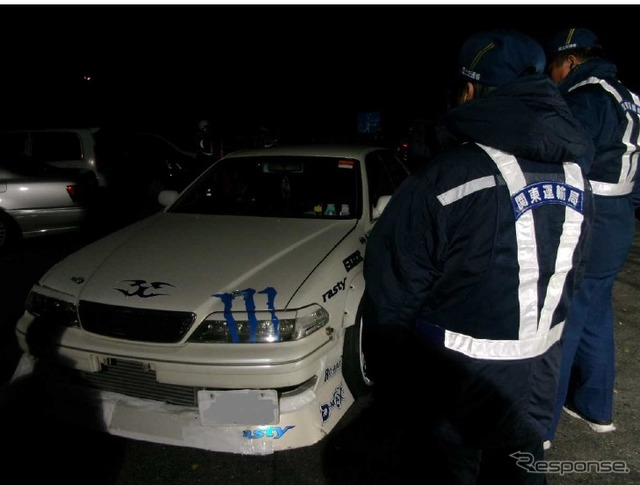 To eliminate the illegal car in the Kanto District Transport Bureau, late-night street test