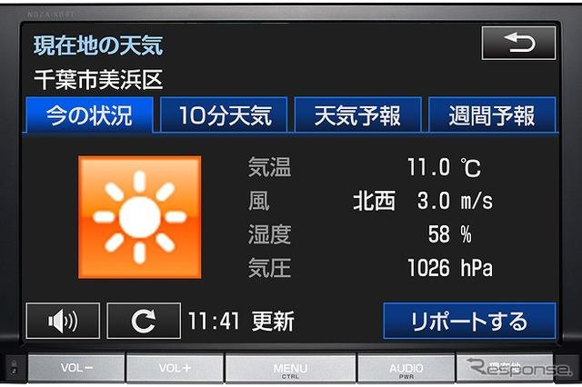 Weathernews provides meteorological information to Toyota Motor Corporation カーナビアプリ