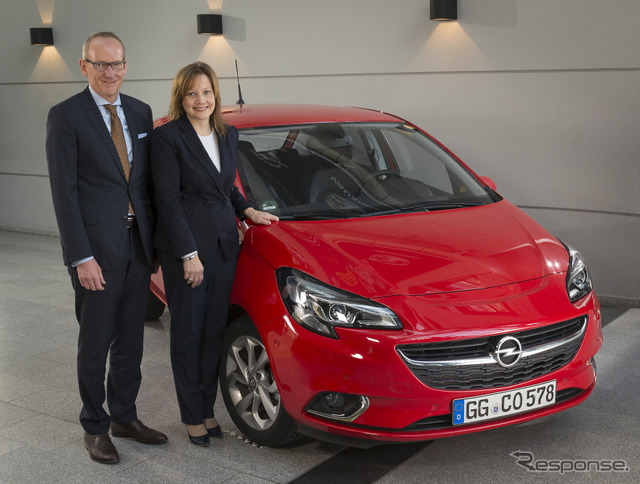 And the new Opel Corsa with GM Mary Barra CEO
