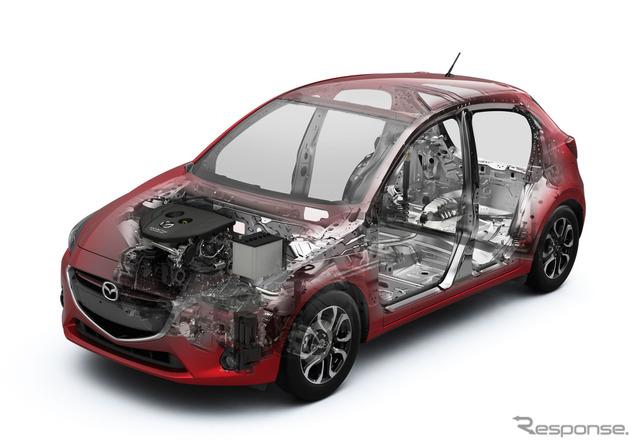 Mazda SKYACTIV technology introduced in the all new Mazda2