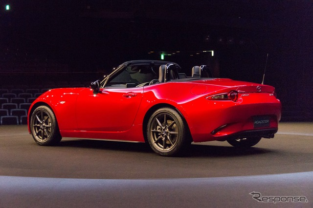 Mazda Roadster (At the product launch in Japan on September 4)