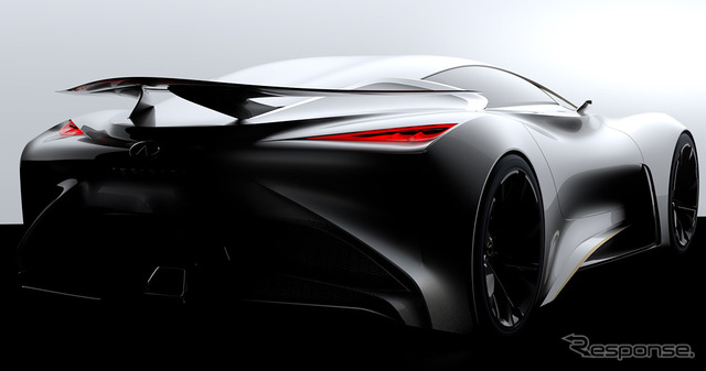 Teaser image of the Infiniti Concept Vision Gran Turismo