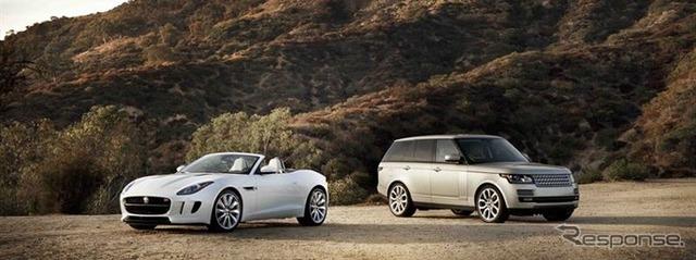 Jaguar F-type and Range Rover