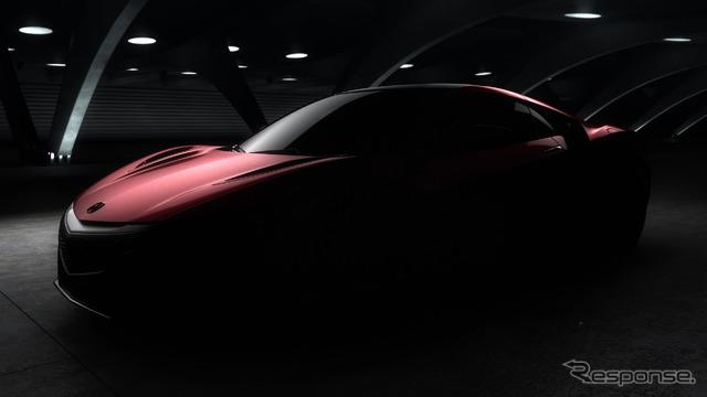 Teaser image of the all-new Honda (Acura) NSX