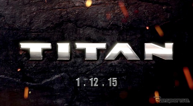 Nissan North America announce upcoming Titan 1/12/2015 and notice
