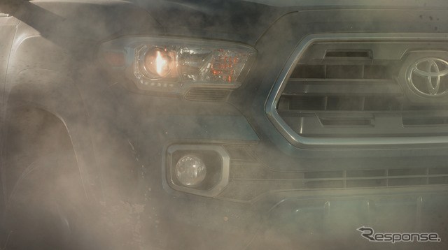 Teaser of the all-new Toyota Tacoma
