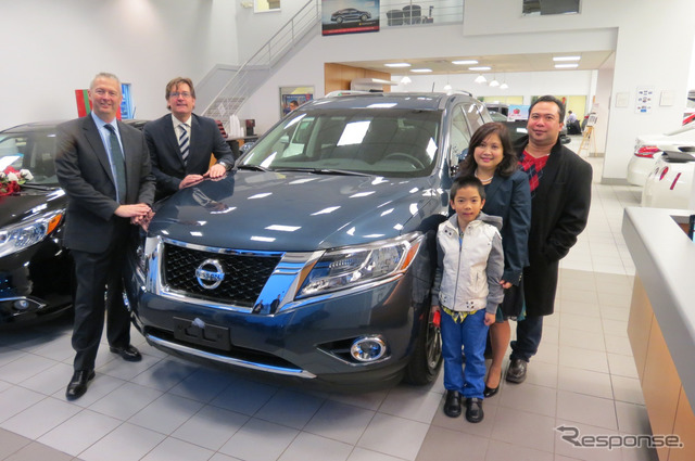 Nissan brand sold 100000 units per year for the first time in Canada Nissan Pathfinder became the first 100000