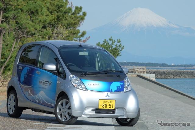 Mitsubishi I-miev test driving 600 km